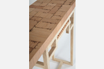"""112358"" Custom Inlaid Parquetry Hall Table (detail)"