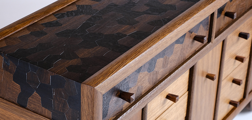 Brian Reid Custom Wood Tansu Cabinet
