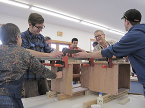 2012 CFC 12 Week Intensive Class Glue-up process